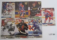 Lot of 7 '93-94 Fleer Ultra Hockey Cards Robert Lang Rookie, Todd Gill & More