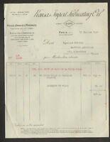 "PARIS (VIII°) VASELINE ,HUILES ,GRAISSES ""KANSAS IMPORT LUBRICATING OIL"" en 1927"