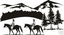 "Horse Quarter Rider Equestrian Trailer Decal 12"""