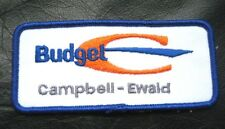BUDGET RENT A CAR EMBROIDERED SEW ON PATCH ADVERTISING UNIFORM CAMPBELL~ EWALD