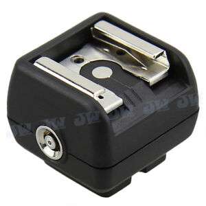 JJC JSC-2 Hot Shoe Adapter with PC Female Outlets For Portable Flashes on DSLRs