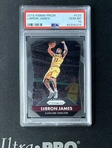 2015-16 Panini Prizm Basketball Lebron James #125 PSA 10