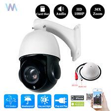 30X Optical Zoom 4MP IP PTZ Dome Security CCTV Camera SONY CMOS Audio+SD Slot