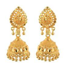 Lilac elegant traditional real-looking South Indian designer golden jhumki 131