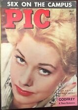 PIC digest May 1955 risque men's mag (no nudity) Sophia Loren billiards photos