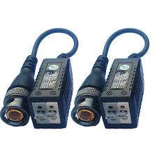 Passive CCTV Video Balun BNC Plug HD AHD/TVI/CVI  over a Twisted Pair CAT5  Pair