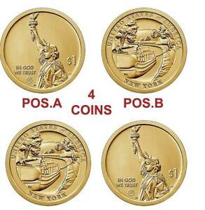 2021 P&D NEW YORK INNOVATION POS. A & B DOLLARS 4 COINS
