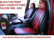 BLACK FUR FRONT SEAT COVER FIT FORD FALCON AU 1998 - 2002