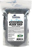 Viva Doria Hawaiian Black Lava Salt, Fine Grain Sea Salt (2 lb)