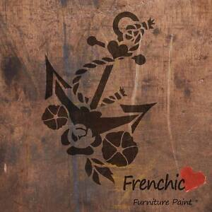 Anchors Aweigh Stencil Tattoo Frenchic Chalky Paint A4 Furniture Paint FREEPOST