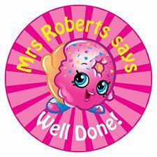 80 Pegatinas De Recompensa Profesor Personalizado alumnos donut rosa