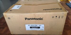 NEW! UNUSED PANASONIC PT-RZ870WU7 1920X1200 8500 LMNS DLP LASER PROJECTOR W LENS