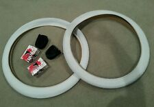 PAIR OF DURO BICYCLE TIRES  SCHWINN TYPE BRICK PATTERN ,26X2.125 WHITE & TUBES
