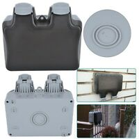 New outdoor socket covers Box Weatherproof Garden 2 Socket Box Cover uk