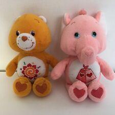 Care Bears Amigo Lotsa Heart Elephant Cousin 8 Inch Plush Stuffed Animal Toy VTG