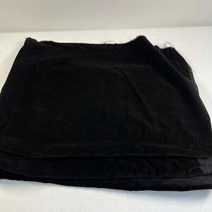 fabric craft upholstery sewing black velvet 34x90 2.5 yards