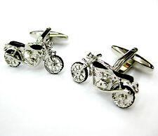 Silver Motorbike Cufflinks Harley Cuff Links Automotive Gemelos £70 for 7 item