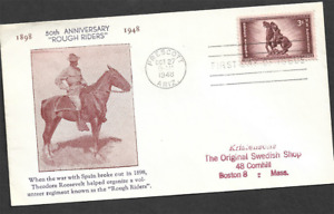UNITED STATES - 1948 The 50th Anniversary of the Rough Riders - FIRST DAY COVER.
