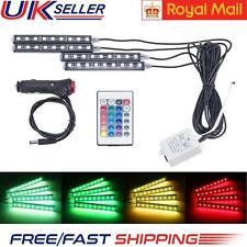 12V 4 Striscia Led Auto Luci interne Atmosfera Colore RGB SMD Decorativa Lampada al neon