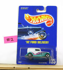 Hot Wheels '32 Ford Delivery White With Turq. Fenders BP196  B4
