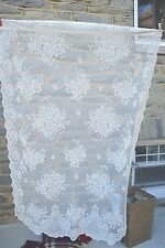 """Panel Curtain Off White Floral Lace 100% Poly Rod 38"""" Wide X 64"""" Length"""