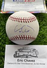 Eric Chavez Signed Baseball - Autographed TriStar MLB Authentic COA Holo - 6x GG