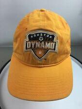 Adidas Men's Orange Houston Dynamo Soccer Baseball Cap Hat Size One Size