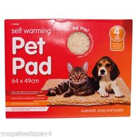 1 x Self Heating Thermal Cat Puppy Dog Mat Bed Animal Pet Warm Washable Rug