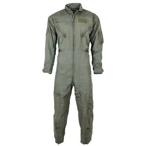 Genuine Austrian army Flight Suit Coverall OD nomex aramid fire resist military