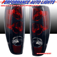2004-2012 CHEVY COLORADO GMC CANYON ALTEZZA STYLE TAIL LIGHTS BLACK PAIR