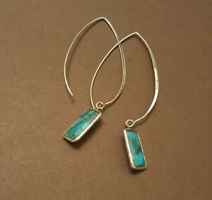 Silpada Sterling silver Turquoise Oasis Compresed W3379 Earrings