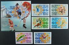 468/Space Raumfahrt 1983 Guinea Olympics 1984 964-69 B + Bl.71B Imperf ** MNH