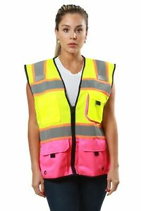 KV02 Kolossus High Visibility Safety Vest with Multi Frontal Pockets Class 2