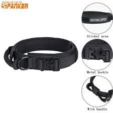 Dog Collar Training Handle M L XL Army K9 Collar Necklace Adjustable Heavy Duty