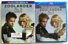 NEW ZOOLANDER 2 BLU RAY DVD DIGITAL HD + SLIPCOVER TARGET EXCLUSIVE + BONUS DISC