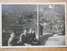 Vecchia foto d epoca fotografia antica COSTIERA AMALFITANA curva automobile dell