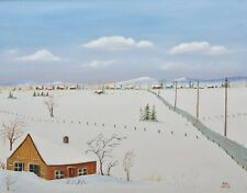 ORIGINAL 16 x 20 Canadian Quebec Artist Marc Lavoie landscape Painting Canvas