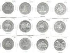Canada 22 Assorted Commemorative Silver(.500) Dollars 1971-89 BU/Proof
