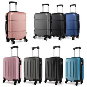 Ryanair Suitcase Cabin Carry on Hand Luggage 4 Wheeled Hard Travel Case Bag