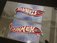 "5"" Chrome & Red Hot Wheels Flames Emblem Hot Rod, Mustang, Camaro 1 PAIR"