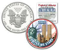 WORLD TRADE CENTER 9/11 American Silver Eagle Dollar 1 oz US Colorized 2001 Coin