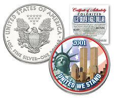 WORLD TRADE CENTER 9/11 American Silver Eagle Dollar 1 OZ Color Coin 2001 Design