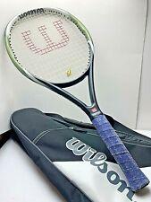 """Wilson Hyper Hammer Tennis Racket 27.5""""L w/Black White Bag USED V.GOOD"""