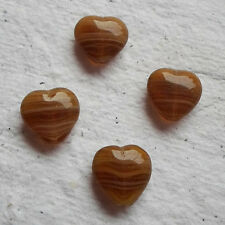 20 x Czech Glass ~ 11mm Heart ~ Beads ~ Topaz ~ Pack 20