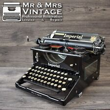 Restored Imperial 50 Typewriter Glossy Black Working Serviced red Ribbon Vintage