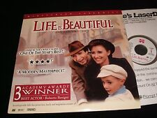 "LIFE IS BEAUTIFUL<>RARE 12"" Laserdisc<>ROBERTO BENIGNI<>MIRAMAX 15971"
