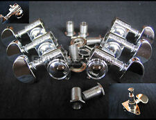 New 3R/3L Grover 102 Rotomatic guitar tuners chrome