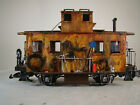Maintenance / Logging Caboose Car - custom built and decorated - G scale