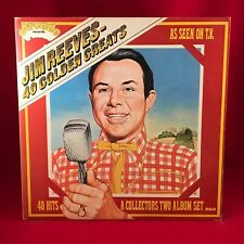 JIM REEVES 40 golden Greats Double 1975 UK VINYL LP EXCELLENT CONDITION Best of