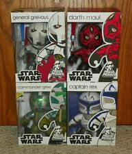 Mighty Muggs Star Wars General Grievous, Darth Maul, Commander Gree, Captain Rex